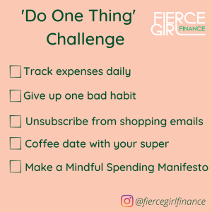 To-do list One Thing Challenge